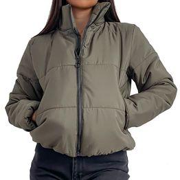 Bomber jacket με τσέπες (Χακί)