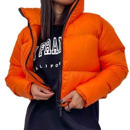 Bomber jacket κοντό (Πορτοκαλί)