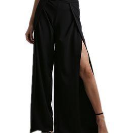 Παντελόνα με άνοιγμα (Μαύρο)