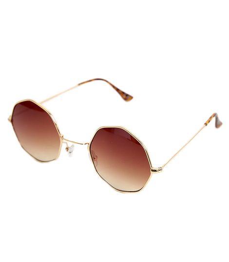 Γυαλιά ηλίου με καφέ φακό και λεοπάρ βραχίωνα
