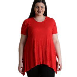 Κοντομάνικη μπλούζα ριπ (Κόκκινο)