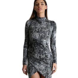Ασύμμετρο εφαρμοστό φόρεμα ζιβάγκο (Φιδίσιο)