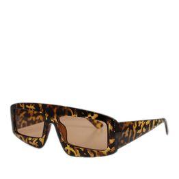 Γυαλιά ηλίου λεοπάρ κοκκάλινα παραλληλόγραμμα με καφέ φακό