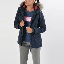 Basehit Women's Hooded Jacket With Det/ble Fake Fur (9000019108_27821)