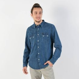 Lee Men's Western Blue Shirt - Ανδρικό Πουκάμισο (9000028741_38662)