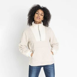 Lee TEDDY HALF ZIP SWS OFF WHITE (9000037178_11977)