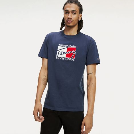 Tommy Jeans Flag Script Men's Tee (9000046815_12993)
