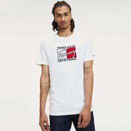 Tommy Jeans Flag Script Men's Tee (9000046816_16073)