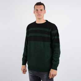 Lee STRIPED WOOL MIX DK BOTTLE GREEN (9000037245_22809)