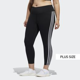 adidas Performance Believe This 3-Stripes 7/8 Plus Size Tights (9000046727_1480)