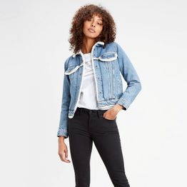 Levi's Original Sherpa Trim Trucker Women's Denim Jacket (9000045996_26103)