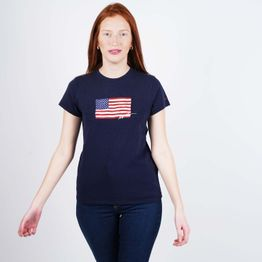 Polo Ralph Lauren Navy Flag Women's T-Shirt (9000050516_42083)