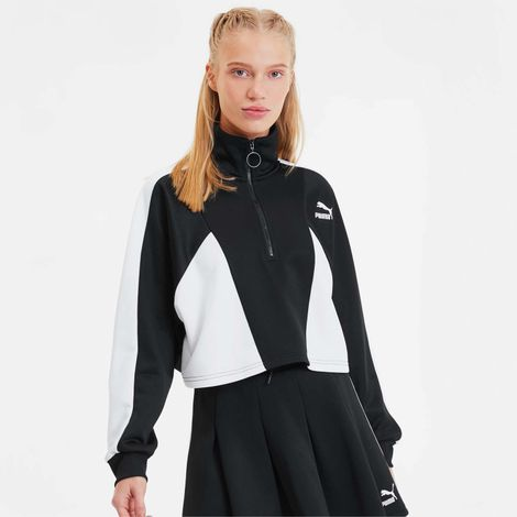 Puma Tailored For Sport Cropped Half Zip Women's Jacket (9000047570_22489)