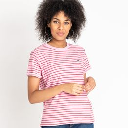 Lee STRIPE TEE FROST PINK (9000037160_41276)