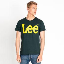 Lee LOGO TEE DK BOTTLE GREEN (9000037200_22809)