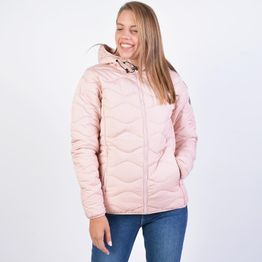 Body Action WOMEN QUILT PADDED JACKET WITH HOOD (9000041215_42055)