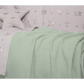 Κουβέρτα αγκαλιάς 80×100 Smooth green Baby Collection – Nef-Nef