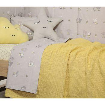 Κουβέρτα κούνιας 110×150 Smooth mustard Baby Collection – Nef-Nef