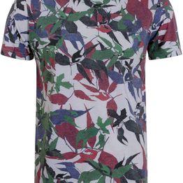 Ανδρικό T-Shirt με All Over Τύπωμα Φύλλα