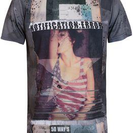 Ανδρικό T- Shirt με All Over Τύπωμα Notification