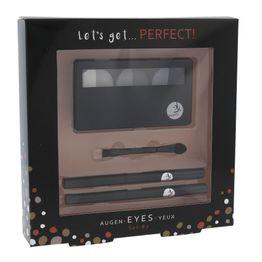 2k Let's Get Perfect! Eyeshadow 7gr : Palette Of Eyeshadow 3 X 2,2 G & Applicator Of Eyeshadow & Eye Pencil 0,2gr 086 & Eye Pencil 0,2gr 087 Grey