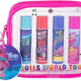 Dreamworks Trolls World Tour Kit Lip Balm 4x3,4gr Combo: Lip Balm 4 X 3,4 G (For All Ages)