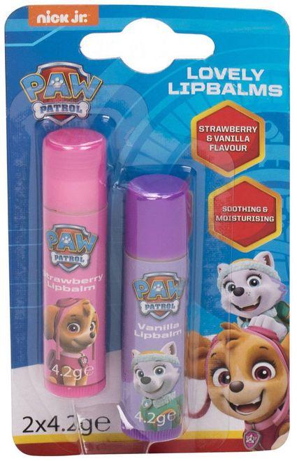 Nickelodeon Paw Patrol Lovely Lip Balms Lip Balm Strawberry 4,2gr Combo: Lip Balm 4,2 G + Lip Balm 4,2 G Vanilla (For All Ages)