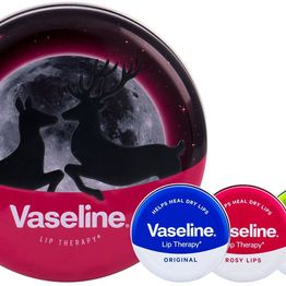 Vaseline Lip Therapy Lip Balm Aloe Vera 20gr Combo: Lip Balm 20 G + Lip Balm 20 G Rosy Lips + Lip Balm 20 G Original + Tin Can (For All Ages)