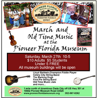 March and Old-Time Music at the Museum - March 27th