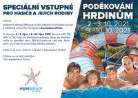 Speciální vstupné pro hasiče a jejich rodiny do Aquapalace Praha