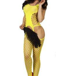 Ολόσωμο καλσόν - Chilirose Bodystocking Yellow CR-3282-Yellow