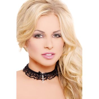 Κολιέ – Black Neckband with Ribbon SFL-7202