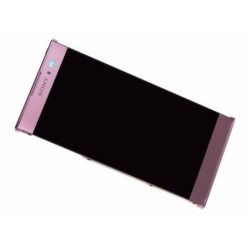 LCD Display Touch+ Front cover Pink Sony H4113 Xperia XA2 (Service Pack)