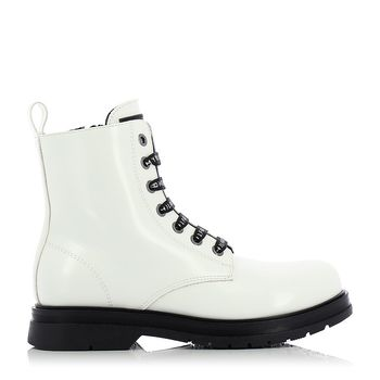 TOMMY HILFIGER – Sneakers LACE-UP BOOTIE WHITE ΠΑΙΔΙΚΟ ΥΠΟΔΗΜΑ Νο35-40