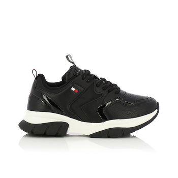 TOMMY HILFIGER – Sneakers LOW CUT LACE-UP SNEAKER BLACK ΠΑΙΔΙΚΟ ΥΠΟΔΗΜΑ Νο30-34