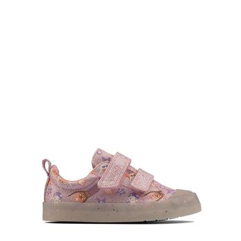 Clarks – Sneakers Foxing Print T Pink ΠΑΙΔΙΚΟ ΥΠΟΔΗΜΑ