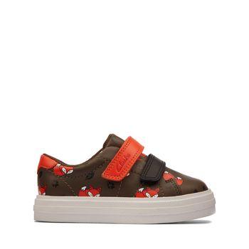 Clarks – Sneakers Nova Early T Khaki ΠΑΙΔΙΚΟ ΥΠΟΔΗΜΑ