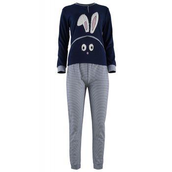 Γυναικεία πυζάμα sampler bunny. Comfortable style. ΜΠΛΕ