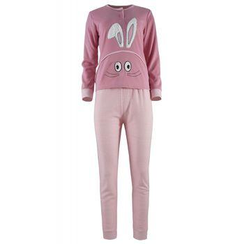 Γυναικεία πυζάμα sampler bunny. Comfortable style. ΡΟΖ