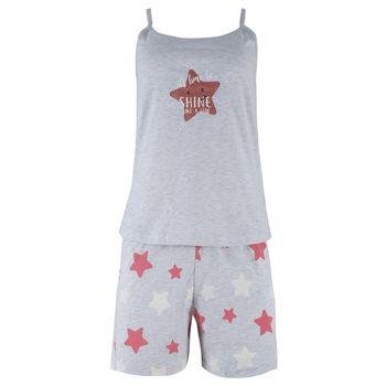 Γυναίκεια baby doll stars print. Girly style ΓΚΡΙ