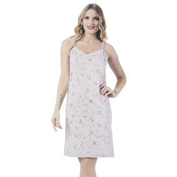 Γυναικείο νυχτικό ραντάκι floral-print ΡΟΖ