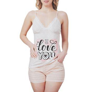 Γυναικείο Baby Doll ραντάκι Love You NUDE