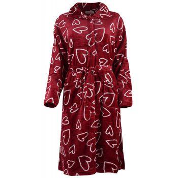 Ρόμπα gsecret με τσέπες & ζωνάκι print-hearts. Comfortable style ΜΠΟΡΝΤΩ