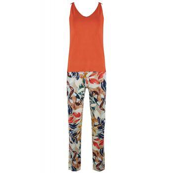 Γυναικεία πιτζάμα Anil ιδιαίτερη πλάτη all-print floral παντελόνι. COPPER