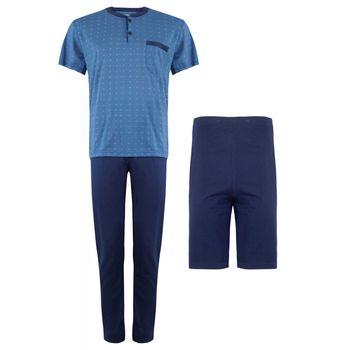 Ανδρικό set πυζάμας μπλούζα με παντελονι & σόρτς. 3 pieces ΡΑΦ