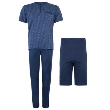 Ανδρικό set πυζάμας μπλούζα με παντελονι & σόρτς 3 τεμ. ΡΑΦ