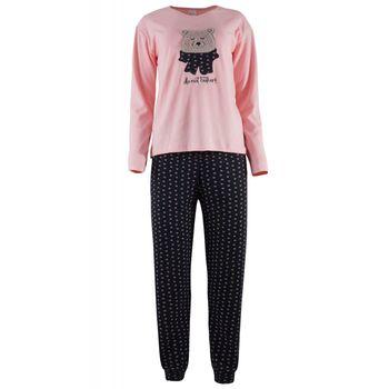 Γυναικεία πιτζάμα ladybug παντελόνι καρδούλες. ΡΟΖ