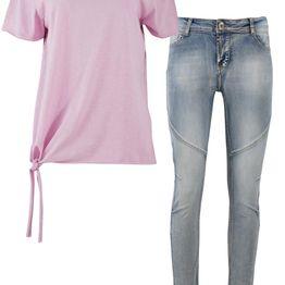 Γυναικείο ελαστικό jeans & Μπλούζα δώρο JEAN