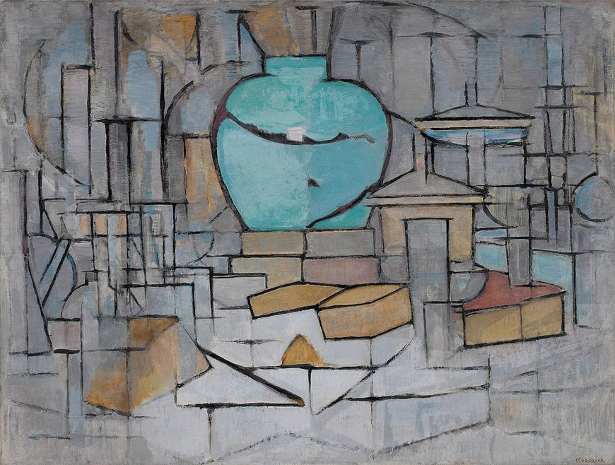 Piet Mondrian, Still Life with Gingerpot II, 1911–12. Oil on canvas, 37 1/2 x 47 1/4 inches (91.5 x 120 cm)