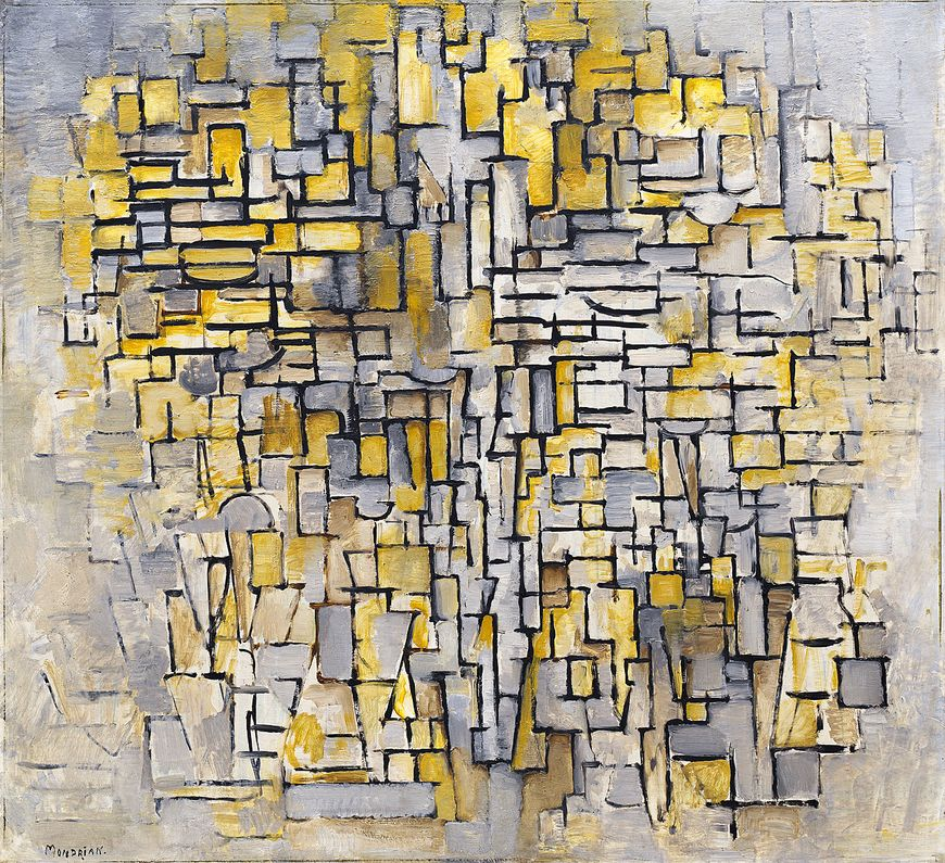Piet Mondrian, Tableau No. 2/Composition No. VII, 1913. Oil on canvas, 41 3/8 x 45 inches (105.1 x 114.3 cm)